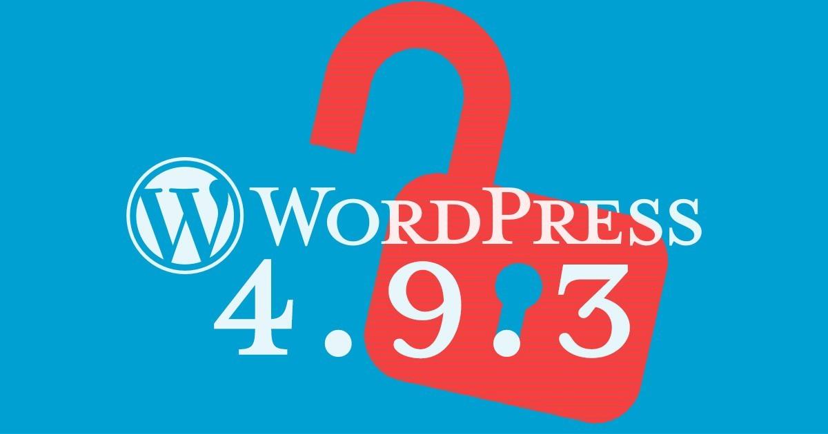 Wordpress 4.9.3 Bug
