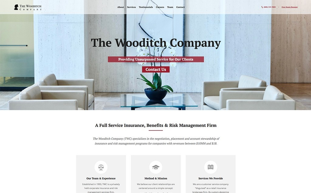 Website Design Portfolio Entry The Wooditch Company Cpd Full Service Web Design Consulting Development Firm
